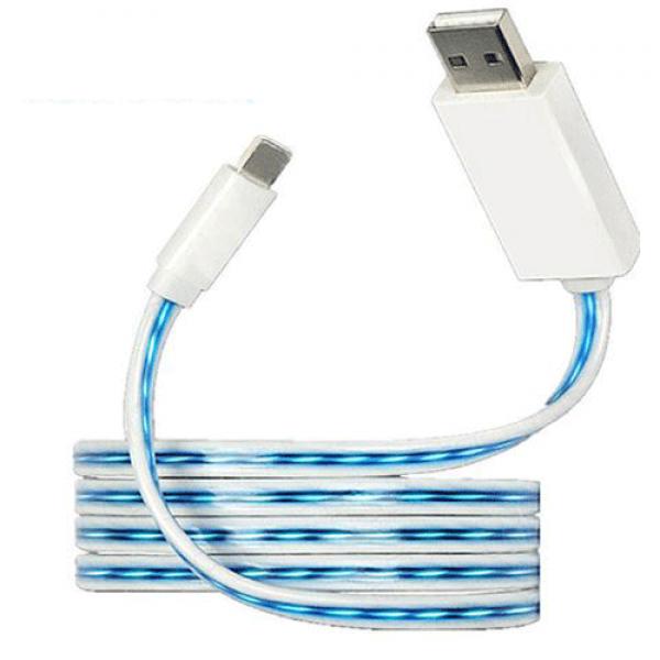 Câble USB de Chargement et de Transfert avec Flux de Lumière