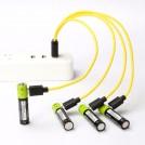 Batteries Rechargeables Par Câble USB - Paquet de 4