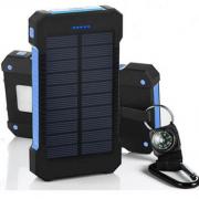 Chargeur Solaire et Batterie Double Port USB 20000mAh