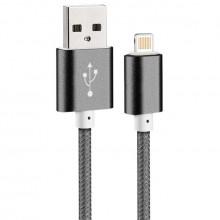 Câble Chargeur Tressé USB iPhone 5 et Plus pour Recharge et Transfert