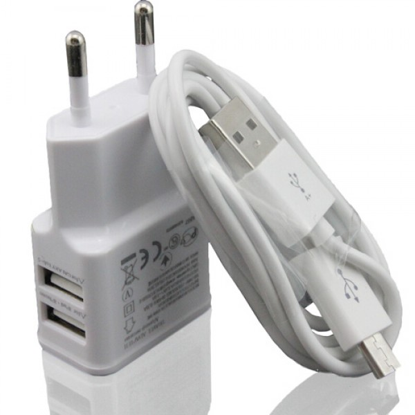 Chargeur Mural Universel Double USB 5V 2.0A 1.0A