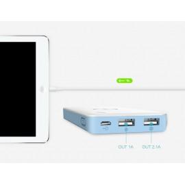 Batterie Externe 10000mAh Double sortie USB Quick Charge 2.0 Li-polymère